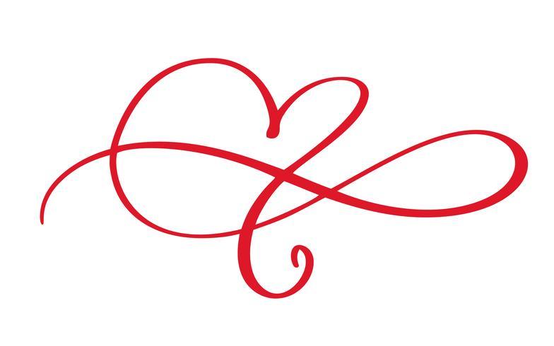 Heart love flourish sign forever