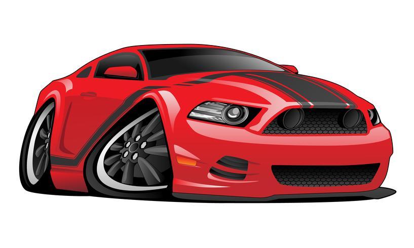 Moderne Amerikaanse Muscle Car Cartoon vectorillustratie