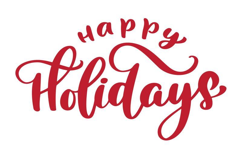 Happy Holiday Hand drawn text vector