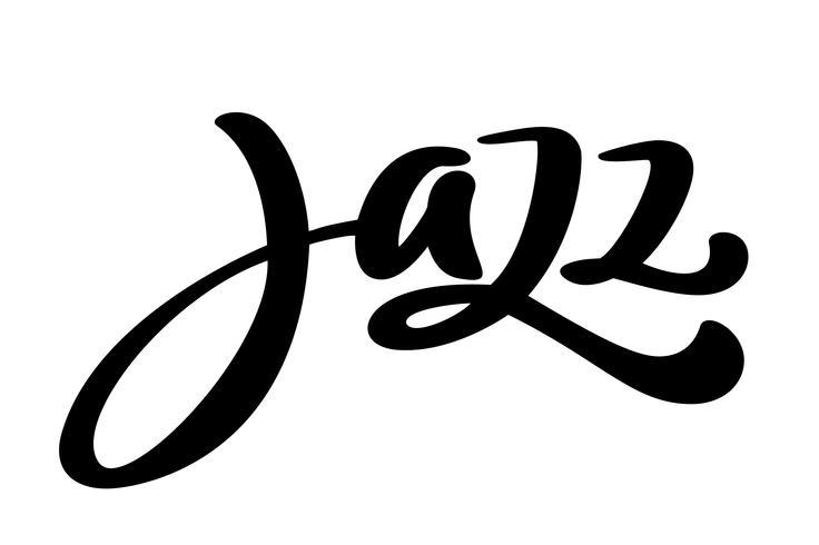 Jazz modern kalligrafi musik citat vektor