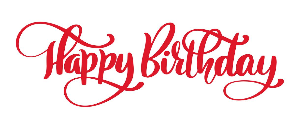 Happy Birthday Hand drawn text phrase