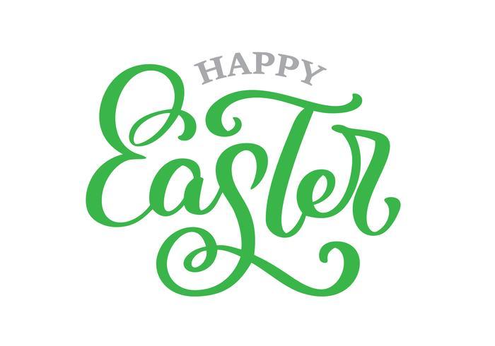 Disegnato a mano dell'iscrizione dell'illustrazione felice di vettore di Pasqua