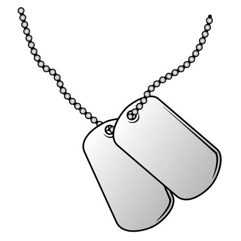 Military Dog Tags Vector Illustration