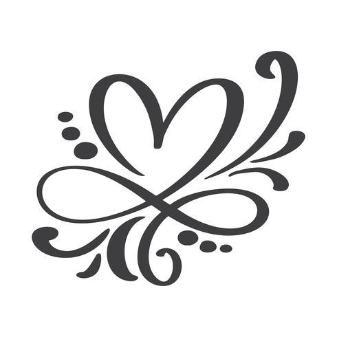 Signe d'amour de coeur pour toujours