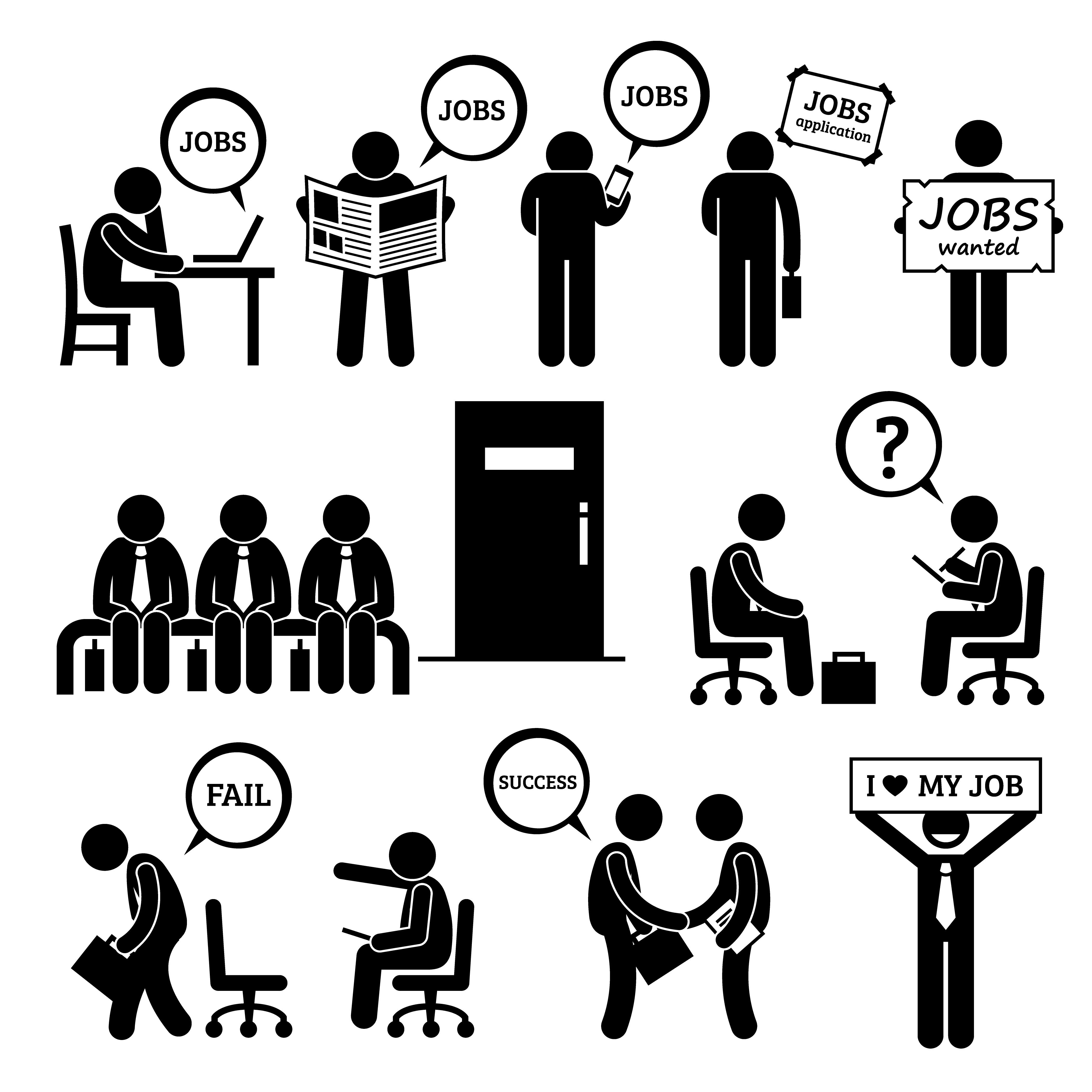 homme  u00e0 la recherche d u0026 39 un emploi et d u0026 39 interview entre