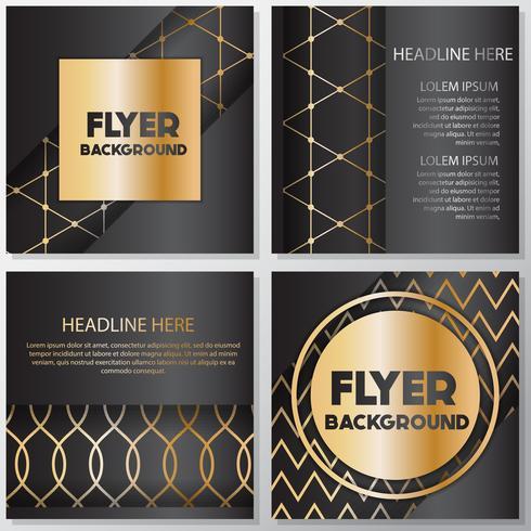 Plantilla de diseño de estilo banner flyer oro fondo