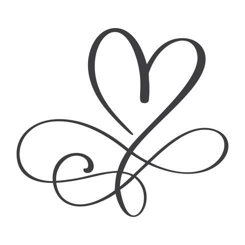 Herz Liebe Zeichen für immer. Unbegrenzt Romantisches Symbol verbunden, verbinden, Leidenschaft und Hochzeit. Vorlage für T-Shirt, Karte, Poster. Flaches Element des Designs des Valentinstags. Vektor-Illustration vektor