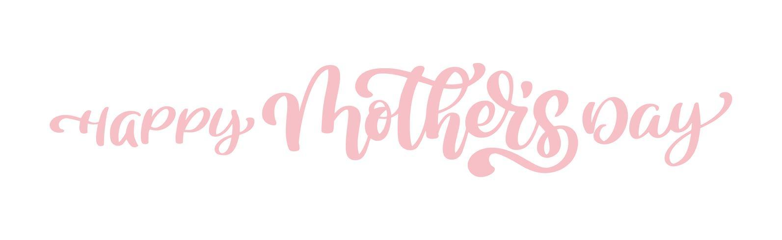 heureuse fête des mères Citations de lettrage dessinés à la main