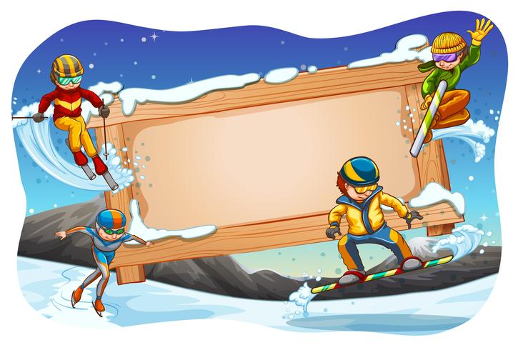 Esportes de inverno vetor