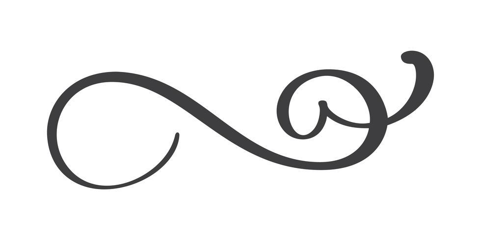 Separatore di flourish disegnato a mano dell'annata