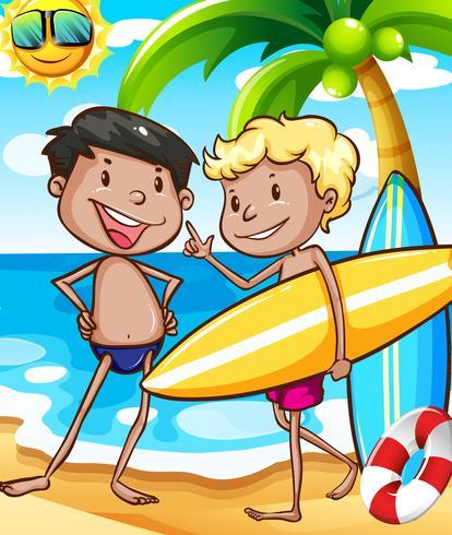 Jungen und Strand