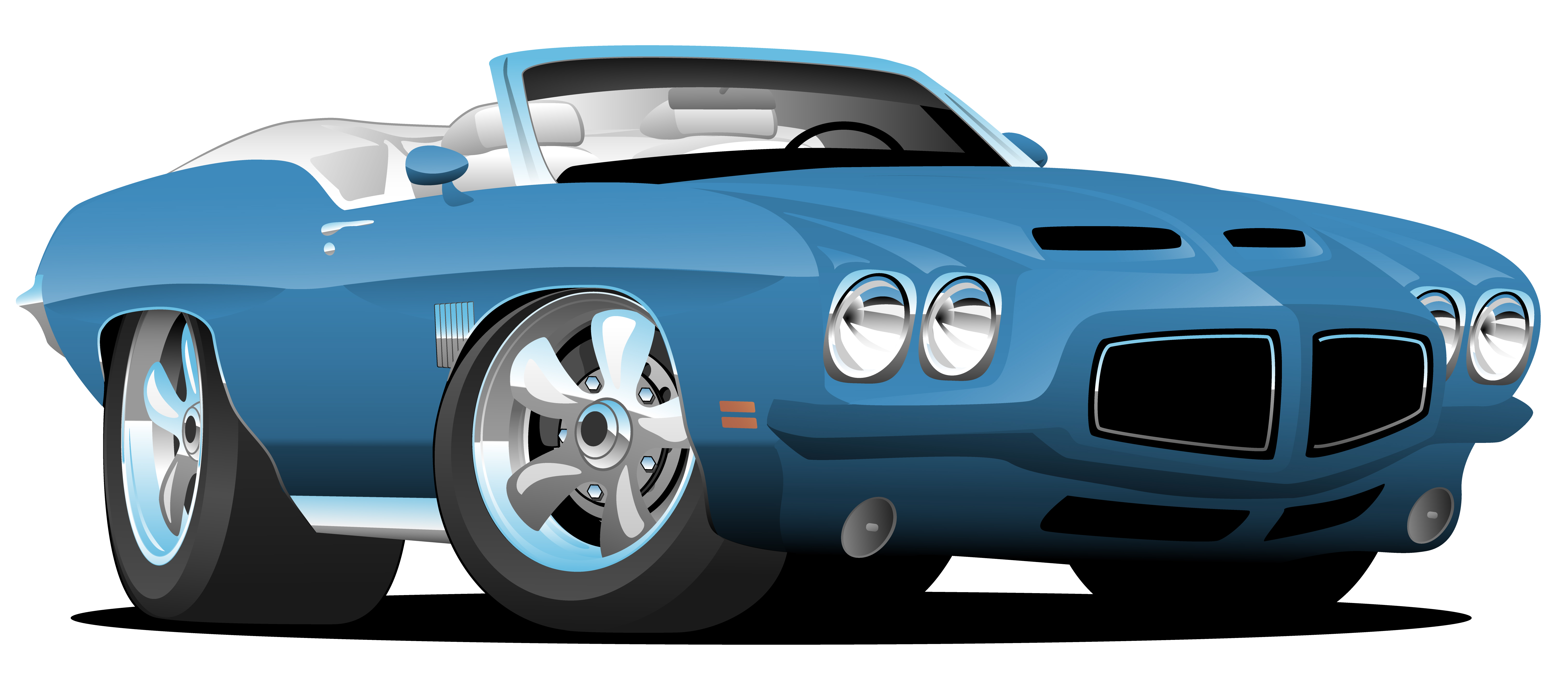 Classic Seventies Style American Convertible Muscle Car ...
