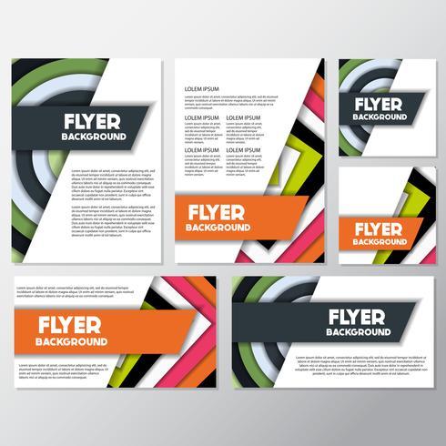 modello di disegno di sfondo stile flyer sfondo fresco vettore