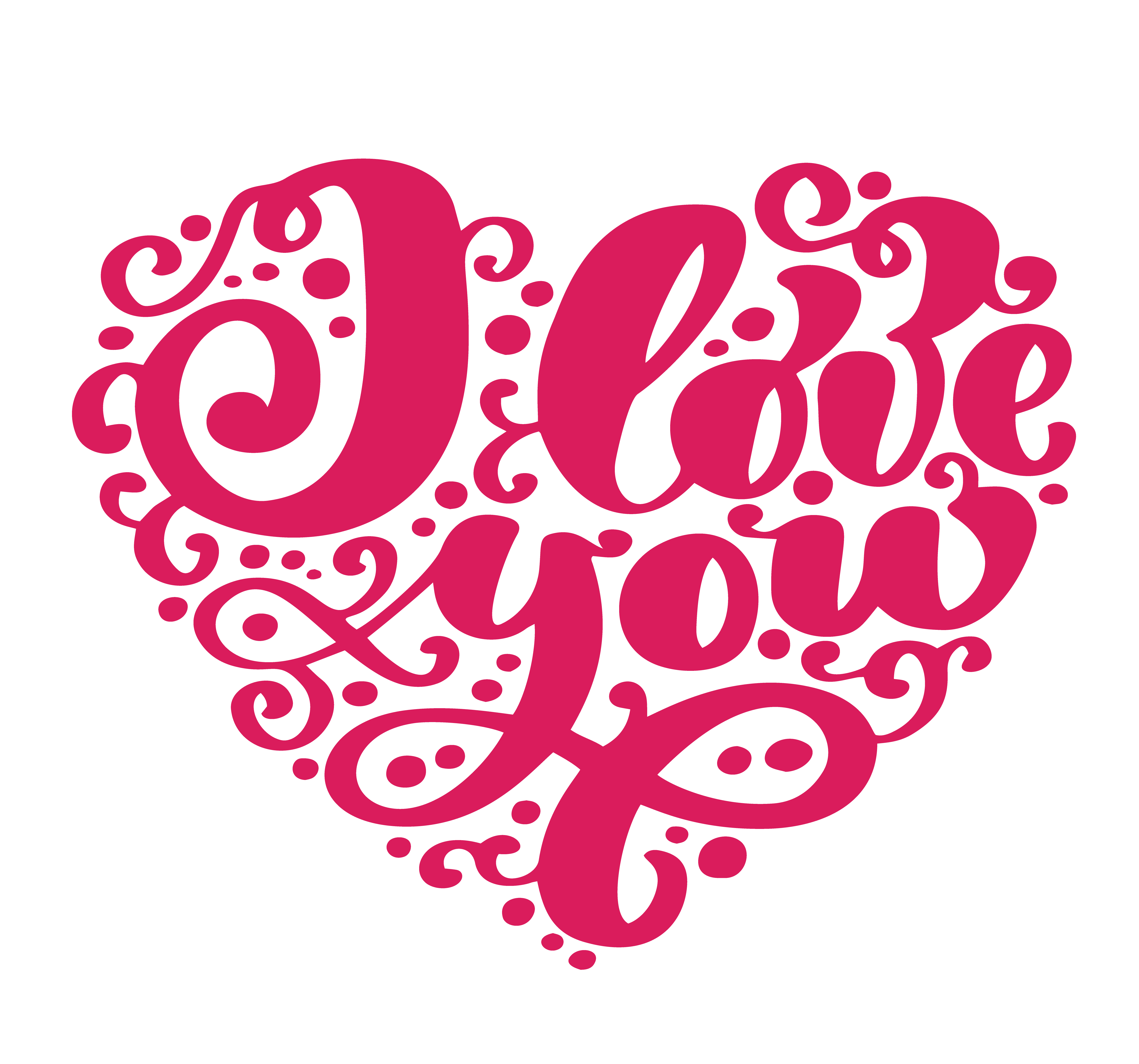 Download I love you. I heart you. Valentines day greeting card with ...