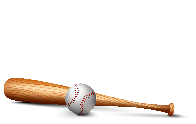 Wooden bat and baseball - Download Free Vectors, Clipart ...