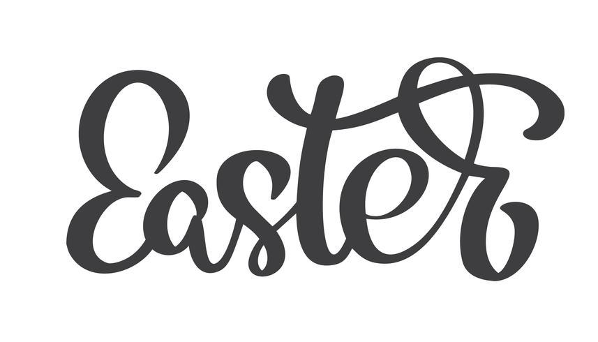 Disegnato a mano calligrafia di Pasqua e lettering penna pennello. Disegno di illustrazione vettoriale per biglietto di auguri vacanza e per sovrapposizioni di foto, stampa t-shirt, flyer, poster design