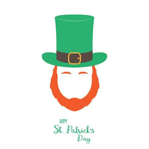 Folletto irlandese con barba rossa.
