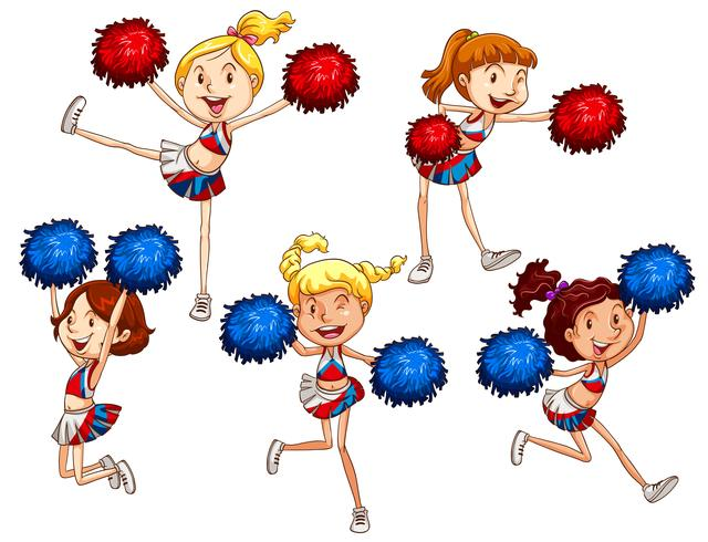 Cheerleaders vector
