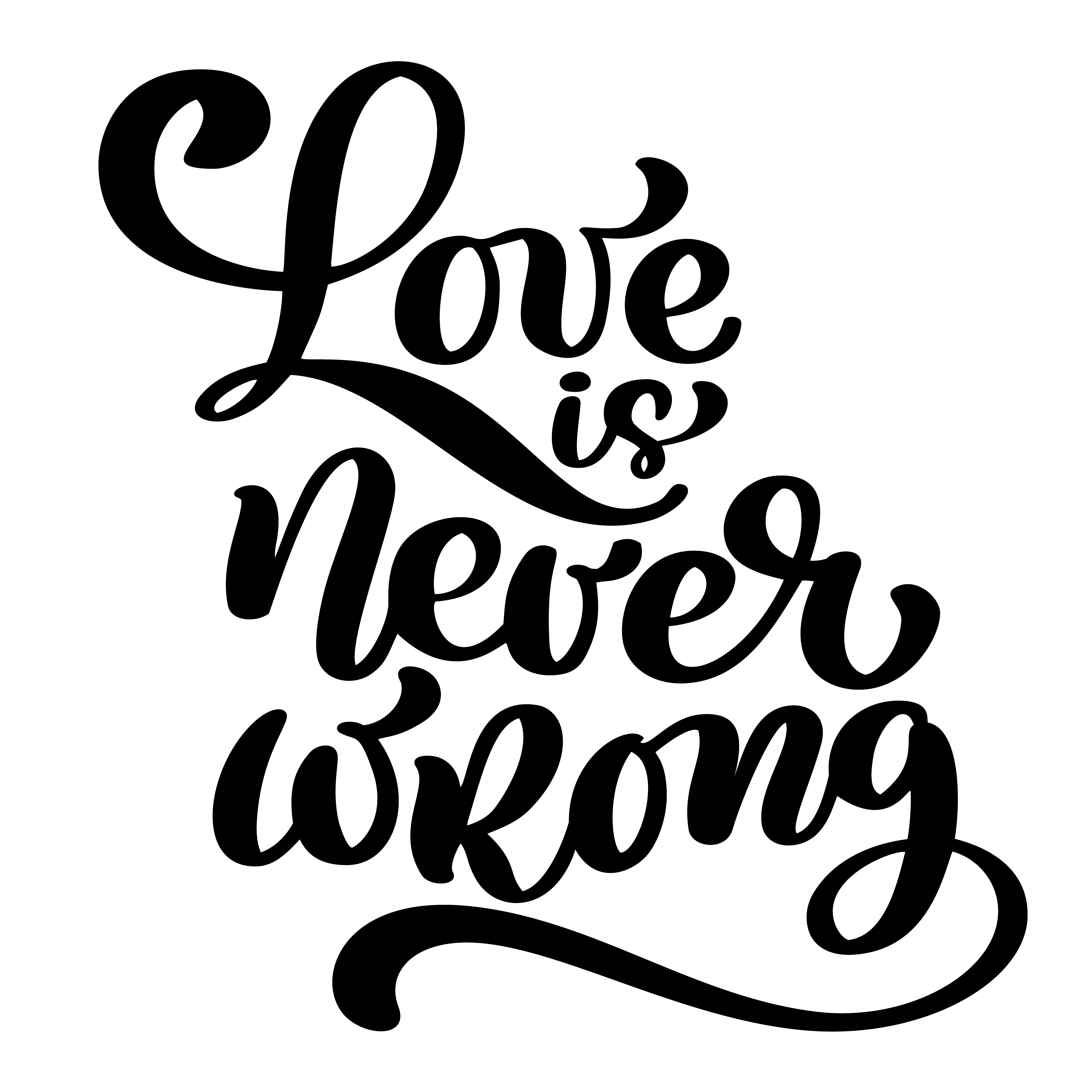 love is never wrong motivational and inspirational quote ...