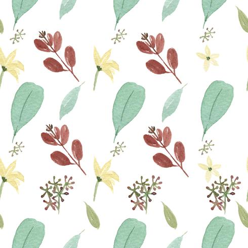 Pattern seamless  floral lush watercolour style vintage textile, flowers aquarelle isolated on white background. Design flowers decor for card, save the date, wedding invitation cards, poster, banner. vector