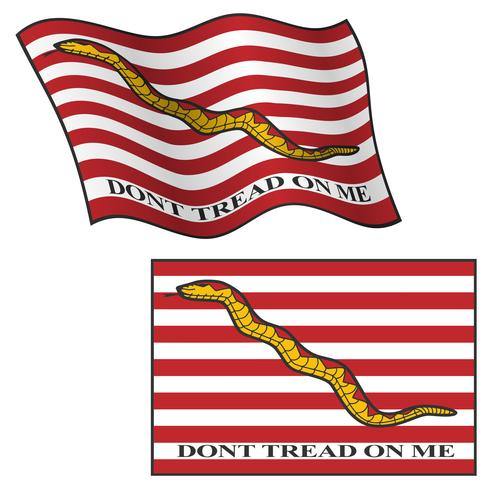 Ne marchez pas sur moi drapeau, ondulation et plat, illustration graphique de vecteur