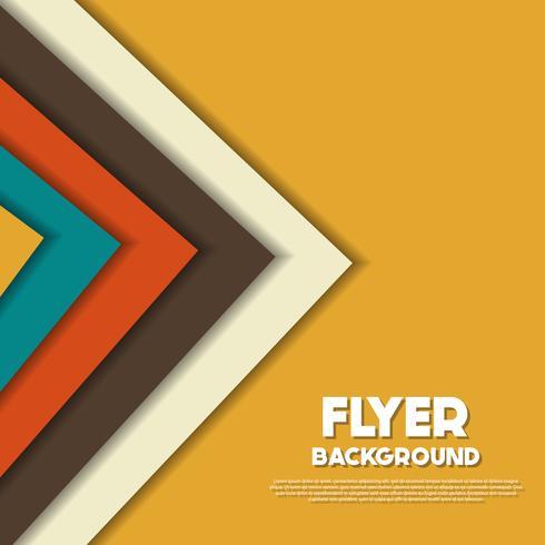 modèle de conception de fond frais flyer style