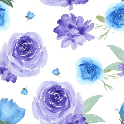 Modele la materia textil enorme floral inconsútil del vintage del estilo de la acuarela, acuarela de las flores aislada en el fondo blanco. Diseño de flores decoración para tarjeta, guardar la fecha, tarjetas de invitación de boda, cartel, banner.