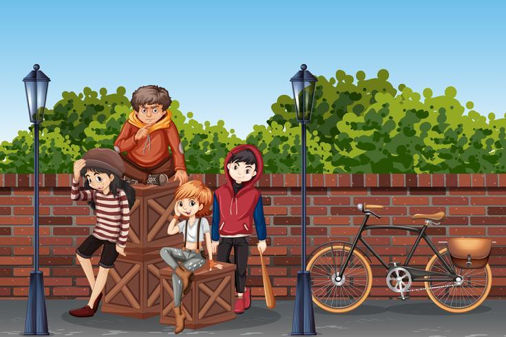 Jeune adolescent à la rue