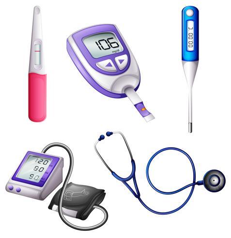 Instrumentos médicos diferentes