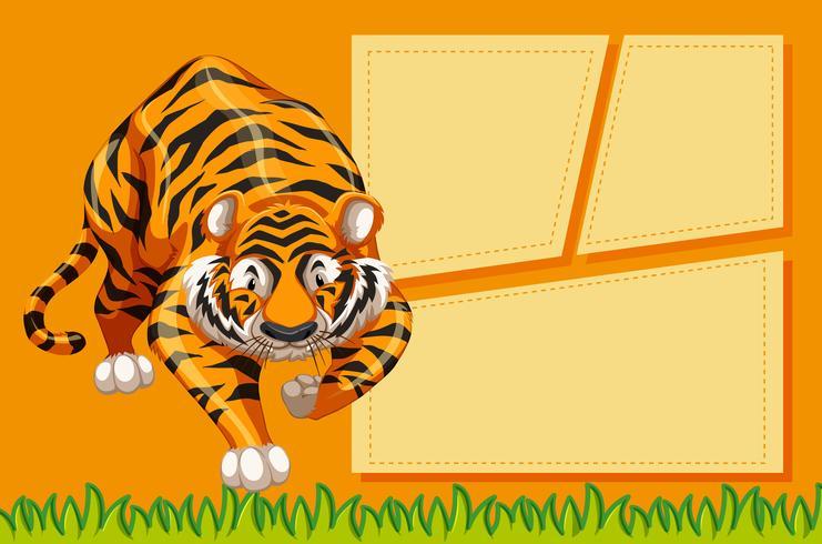 tigre com um quadro