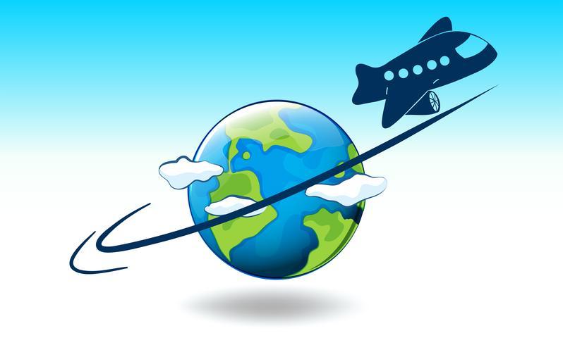 Um globo e um avião