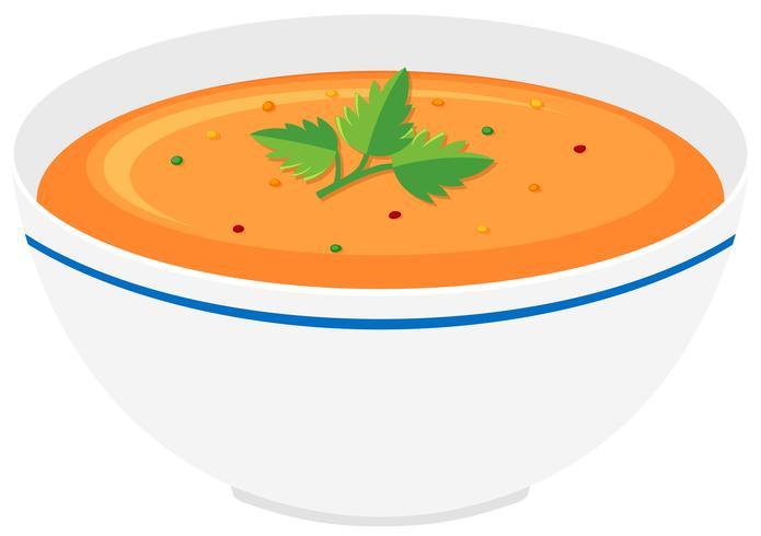 Schüssel Kürbissuppe