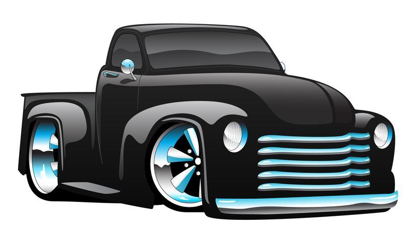 Illustration Vectorielle De Hot Rod Camionnette Dessin Animé