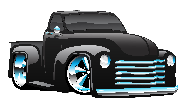 Hot Rod Pickup Truck Cartoon Vector Illustration ...