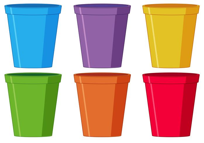 Conjunto de copo de plástico