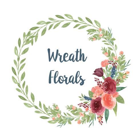 Kronor akvarellblommor handmålade med ram ram, frodiga floraler vattenfärg isolerad på vit bakgrund. Design dekor för kort, spara datum, bröllop inbjudningskort, affisch, banner.?