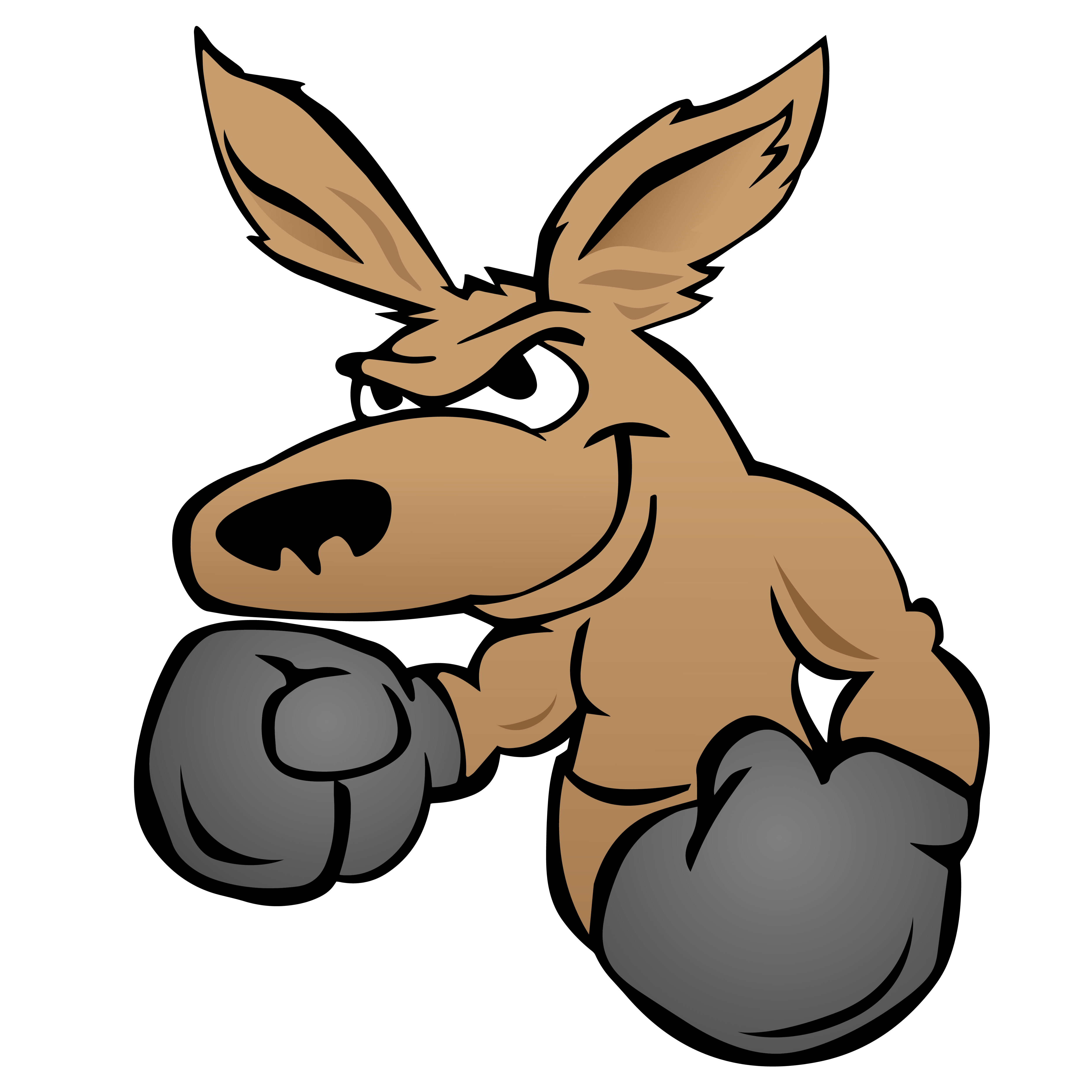 Cute kangaroo with boxing gloves vector illustration ...