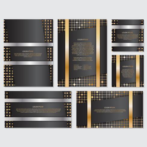 Gouden banner achtergrond flyer stijl ontwerpsjabloon