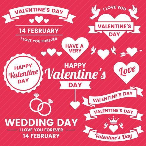 Valentine template banner Vector background for banner