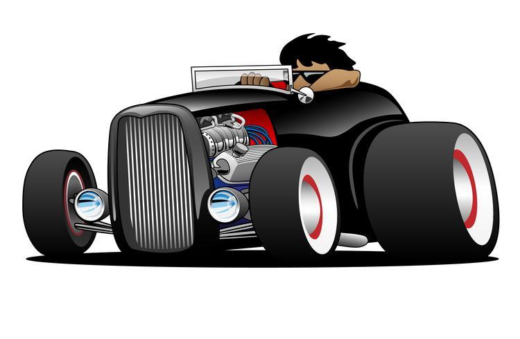 Klassisk Street Rod Hej Boy Roadster Illustration
