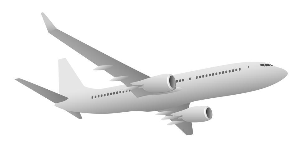 Ilustração em vetor de avião de passageiros a jato