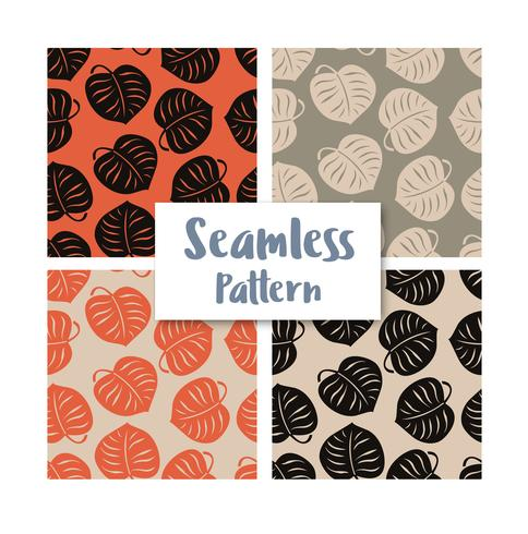 Seamless leaves pattern repeating tiles backdrop background