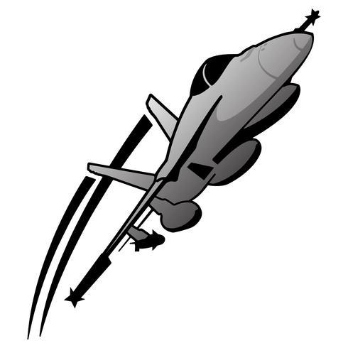 Illustration vectorielle d'aéronefs de chasse militaire moderne