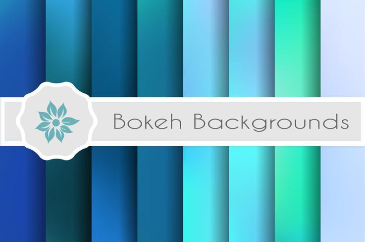 Set di sfondi Bokeh di sfondi decorativi per