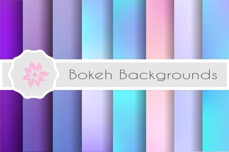 Bokeh bakgrunder uppsättning dekorativa bakgrunder för