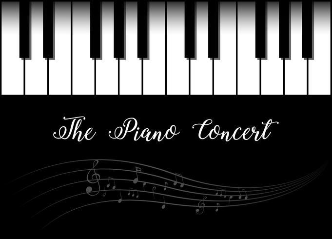 Hintergrunddesign mit Klavier