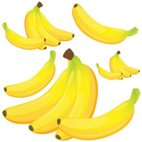 Banan på vit bakgrund