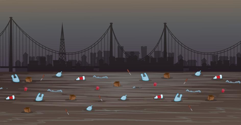 Une pollution de l'eau dans une grande ville