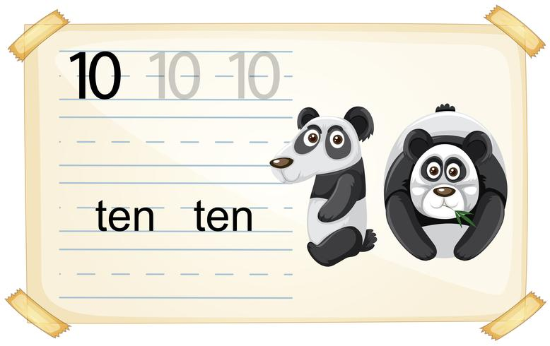 Antal tio panda-kalkylblad