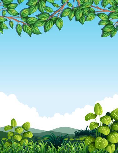 Natur med trädblad